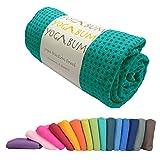 Yogabum rutschfeste Premium-Yoga-Matte Handtuch (Emerald Green)