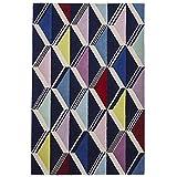 Unbekannt Fiona Howard Designer-Teppich, Zickzack-Muster, 100% Wolle, handgetuftet, 150 x 230 cm, Mehrfarbig