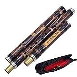 Chinesische Vertikale Bambusflöte Xiao 8 Löcher Genau Gestimmtes Chromatisches Musikinstrument G/F-Schlüssel Dong Xiao DREI Abschnitte (Color : 1)