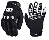 Seibertron Dirtpaw Unisex Rutschfeste Bike Bicycle Cycling/Radsport Racing Mountainbike Handschuhe für BMX MX ATV MTB Motorcycle Motocross Motorbike Road Off-road Race Touch Screen Gloves Black XS