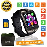 Smartwatch Bluetooth Smart Watch SN06 mit Touchscreen Kamera SIM-Karte Slot Fitness Tracker Sport Uhr für Samsung LG Sony Huawei Xiaomi Android phones iPhone ios für Damen Herren Kinder (Schwarz)
