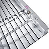JalouCity Aluminium Jalousie inklusive Montagematerial/Silber 180 x 150 cm (BxH)