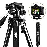ESDDI 170cm/67'' Kamera Stativ Aluminiumlegierung Stativ Kompakt Leichtes Stativ für Smartphone DSLR SLR Canon Nikon Sony Olympus mit Handy Halterung Tragetasche