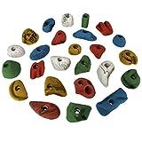 25 Klettergriffe Größe M und S im Griffset Nice, Farbe:bunt