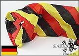 Wunderschöner Deutschland Windsack | BRD / D in leuchtenden Farben | 2018 | Durchmesser 15cm | Länge 130cm | wetterbeständig Windsocke | Windspiel | Wetterfahne | Windturbine | Deutschlandfarben mit stabiler Aufhängung | Deutschland | Expressversand | molinoRC BRD