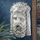 Design Toscano Herkules-Büste mit nemeischem Löwen, Wandfigur in Kopfform