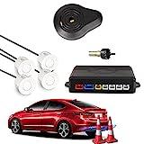 Car Rover Auto Einparkhilfe Rückwärtseinparken Auto Rückfahrradar Rückradar Radar mit 4 Sensoren und Summer weiß