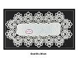 Tischdecke Deckchen, Tischläufer mit Spitze von SOUNON - Oval 50 x 30 cm (Model 003)