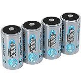 ANSMANN LSD Mono D Akkubatterie, 1,2 V / Typ 10000mAh / Hochkapazitiver NiMH Akku mit konstant hoher Leistungsabgabe & Langlebigkeit - ideal für Geräte mit hohem Stromverbrauch, 4 Stück