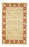 FeelGoodRugs 100 x 160 cm, Farahan Ziegler Orientteppich Teppich, Beige/Rot, Synthetisch, Beige/Rot, 100x160