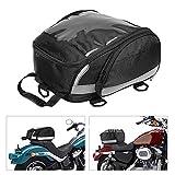CONRAL wasserdichte Motorrad Rückentasche, große Oxford Rücksitzgepäck Helmtasche, Motorrad Reiserucksack mit reflektierendem Sicherheitsstreifen, schwarz