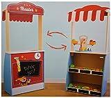Playland Kaufladen Marktstand Puppentheater Kaufmannsladen aus Holz Kasperletheater 112cm