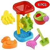 Bramble 6 Pack Sandmühle & Wassermühle Set - Sandkästen, Sandspielzeug & Strand Spielzeug - Wasserspielzeug für den Sommer, Strand, Badewanne & Schwimmbad, Sandkasten