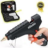 LeaderPro Klebepistole 60W volle größe mit 11mm x 190mm x 20 Kleber Sticks und Werkzeugstasche Heißklebepistole für DIY Handwerker Handarbeit