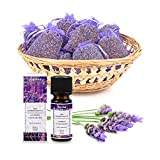 10 Lavendelsäckchen plus 100% naturreines ätherisches pajoma Lavendel Öl aus Frankreich Lavendelbeutel Duftkissen Sachets