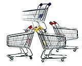 hibuy Mini Deko Supermarkt Einkaufswagen aus Metall, Gitterwagen Kinder Spielzeug, Geschenkidee, Wichtelgeschenk, 22cm Lang, Farbe: Pink