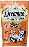 Dreamies Katzensnacks Klassiker/Katzenleckerli mit wertvollen Vitaminen und Mineralstoffen/Huhn/6 x 60g