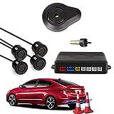 Car Rover Auto Einparkhilfe Rückwärtseinparken Auto Rückfahrradar Rückradar Radar mit 4 Sensoren und Summer - Schwarz
