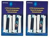 8 Aufsteckbürsten kompatibel für Braun Oral-B Zahnbürsten el. Zahnbürsten