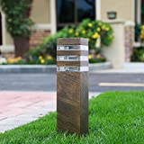 Außenleuchte Design Außen-Standleuchte Wegeleuchte Outdoor Gartenlampe Hochwertiges Aluminium Sockelleuchte Wege-Beleuchtung Straßenleuchte Rasen Lampe,9 * 13 * 40CM