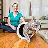 Interaktives Katzentunnel-Spielzeug – Bestens geeignet für verspielte Katzen und Katzenbabys – Katzenversteck mit Tunnelfortsätzen – Weich und 100 % tierfreundlich – Extra großer Haustiertunnel