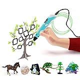 3D Druckstift,3D Stift Set mit LCD Display, 3D Drucker Stift, 3D Druckstift mit 1.75 mm PLA Filament für Kinder, Erwachsene, Kritzelei, Zeichnung und Kunst & handgefertigte Werke.