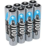 ANSMANN wiederaufladbar Akku Batterie Mignon AAA Typ 1100mAh NiMH hochkapazitiv Hohe Kapazität ohne Memory-Effekt Profi Digital Kamera-Akkubatterie 8er Pack