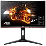 AOC Gaming C27G1 68,6 cm (27 Zoll) Curved Monitor (FHD, HDMI, 1ms, DisplayPort, 144 Hz, 1920 x 1080 Pixel, Free-Sync) schwarz