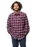 Jack Wolfskin Herren Bow Valley Shirt Outdoor Reise Freizeithemd Atmungsaktiv Hemd, blau (red blue checks), L