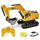 zezego Bagger , 5CH RC Bagger 5 CH Fernbedienung RC Bau Bagger Simulation Traktoren Engineering Fahrzeuge Trucks Digger