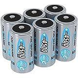 ANSMANN LSD Baby C Akkubatterien, 1,2V / Typ 4500mAh / NiMH Hochleistungsakkus mit geringer Selbstentladung & hoher Langlebigkeit - ideal für Fernbedienung,  Spielzeug, Werkzeug, uvm., 6 Stück