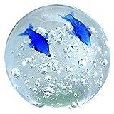 Traumkugel Glaskugel, Briefbeschwerer, Delfin, Delphin ca.7cm