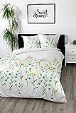 Satinbettwäsche 135x200 cm 100% Baumwolle Design 'Wild Flowers'