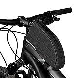 Tofern Fahrrad Fahrrad Rahmen Tasche Top Tube Rahmen Tasche vorne Tube Paar–8Farben, Herren, schwarz/grau