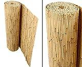 Schilfrohrmatten Premium für Balkon, 'Beach', 90 hoch x 600cm breit, ein Produkt von bambus-discount - Sichtschutz Matten Windschutzmatten