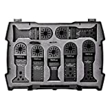 TACKLIFE 15-Teiliger Oszillierende Sägeblätter Klinge Set für Multi-Tool Multifunktionswergzeug, mit 4 Stück C-Clip Adapter, Schneiden von Holz, Nägeln, Metall, Kunststoff usw