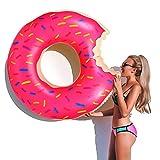 yotame Schwimmring Donut Schwimmreifen Aufblasbarer 120cm Pool Luftmatratze Floating-Ring Riesen Float Spielzeug für Erwachsene und Kinder, Aufblasbarer Luftmatratzen für Pool Strand Party