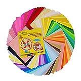 Onepine Origami Papier 15 x 15 cm 200 Blatt Farben Faltpapier für Weihnachts-Origami Papier DIY Kunst und Handwerk Projekte,50 Farben
