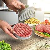 broil-master Hamburgerpresse- Set | Innendurchmesser 11,5 cm, aus Aluguss mit Komfort Holz-Griff in Braun | Hamburgermaker, Burger Maker, Fleischhämmer