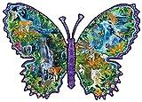 Regenwald-Schmetterling (Konturenpuzzle)