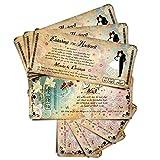 30 Einladungen zur Hochzeit Märchenhochzeit - beige Hochzeitskarten Hochzeitseinladungen