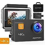 APEMAN 4K Action Cam 20MP WIFI Wasserdichte Unterwasser Action Kamera 40M Digitale Videokamera mit 170 ° Weitwinkelobjektiv Eis Sony Sensor, Zwei verbesserten Batterien, Transportskoffer und 24 Multiples