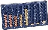 PEARL Zählbrett: Euro-Münzbrett für alle Euro- und Cent-Münzen (Münzzählbrett)