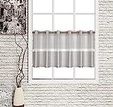 Startex Ösenpanneaux, Polyester, Grau, 50 x 140 cm