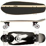 FunTomia Cruiser Midi-Board/Skateboard 65cm 7-lagigem kanadischem Ahornholz