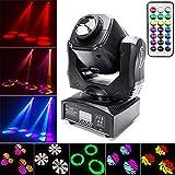 UKing 60W Moving Head LED DMX512 Disco Lichteffekt mit Funktionell Fernbedienung Partylicht 8 Muster 8 Farben Discolicht Musikgesteuert für DJ Bar Club Partybühnenlicht