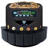 Münzzähler Münzzählmaschine Münzsortierer Geldzählmaschine Münzen SR1200T Transporter von Securina24 (schwarz-BBBT)