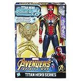 Hasbro Avengers E0608100 - Marvel Titan Hero Spider-Man Actionfigur, mit Power FX Pack, dt. Version