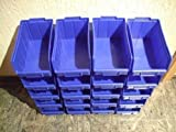Stapelboxen Gr.2 blau Sichtlagerboxen Stapelbehälter 30 Stück