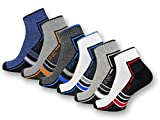 6 oder 12 Paar SPORT Sneaker Socken mit Frotteesohle verstärkt Herrensocken Sportsocken - 16215/20 (43-46, 6 Paar | Farbmix)